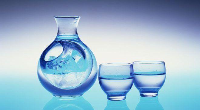 Сосуд с родниковой водой